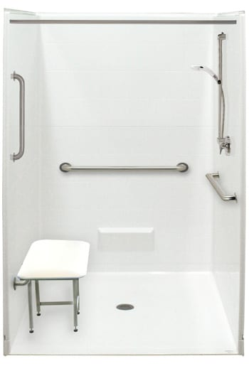 Accessible Showers Barrier Free Shower Stalls for Disabled and
