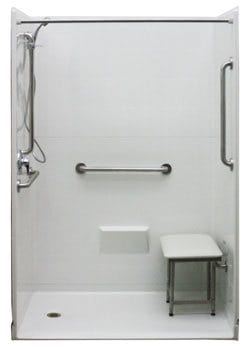 wheelchair accessible shower freedom 54 x 31