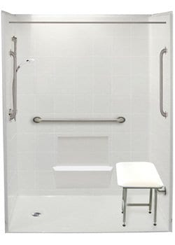 accessible shower 60x30