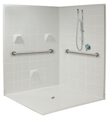 freedom accessible corner shower 6060
