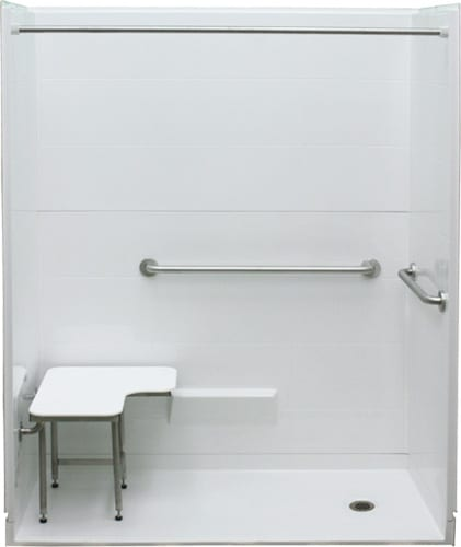 Freedom ADA roll in shower with right hand drain