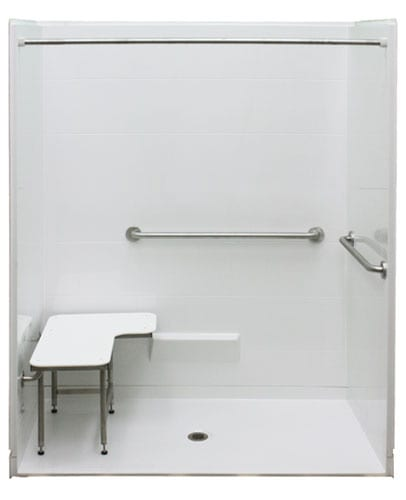 ADA roll in Freedom Shower with seat and grab bars